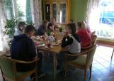 Śniadanie przed przekroczeniem granicy
